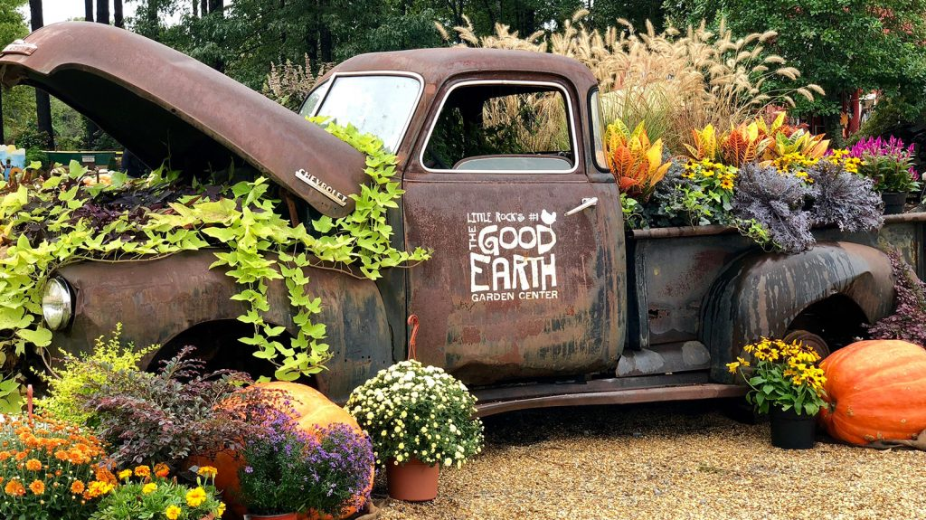Truck at Good Earth with Flowers